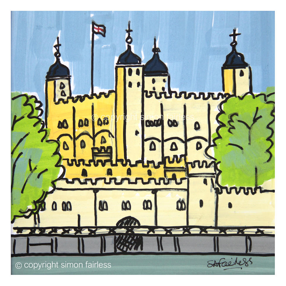 Tower of London painting