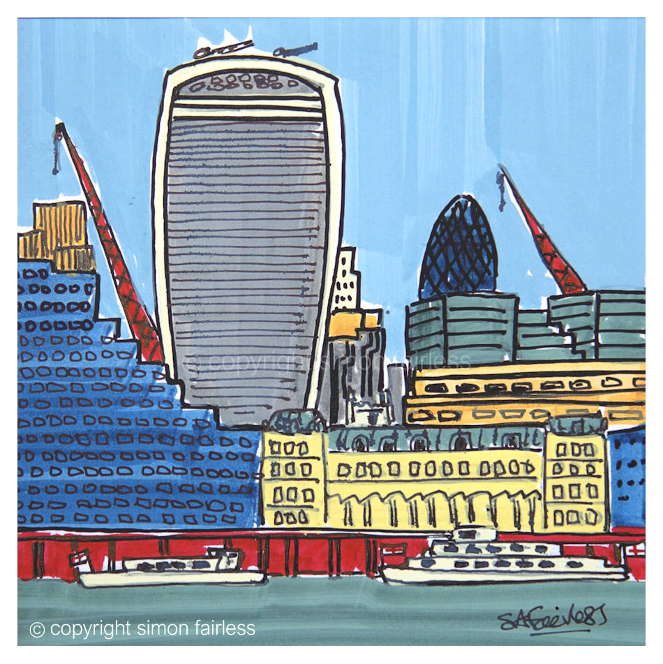 Billingsgate - London drawing