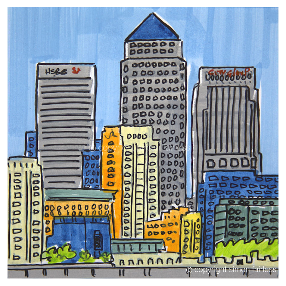 Canary Wharf drawing
