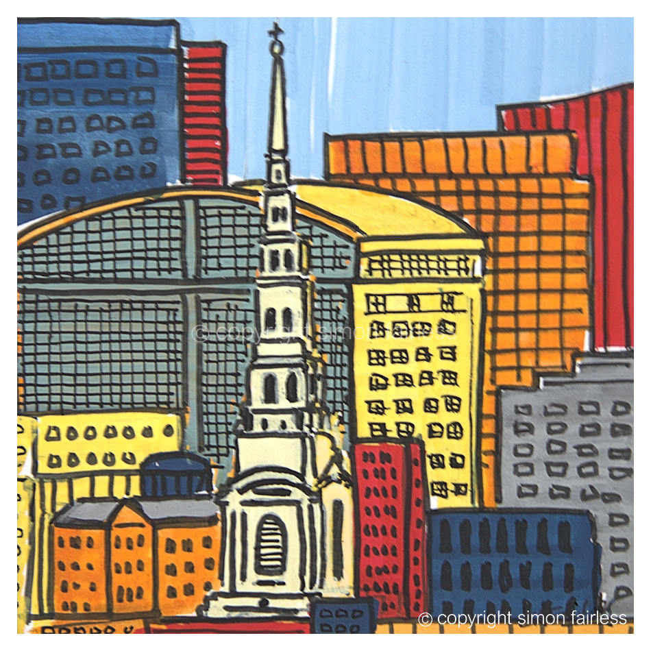 St Brides City of London painting