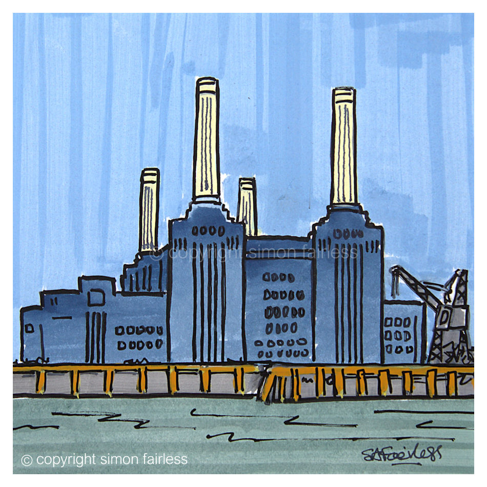 Battersea Power Station London painting