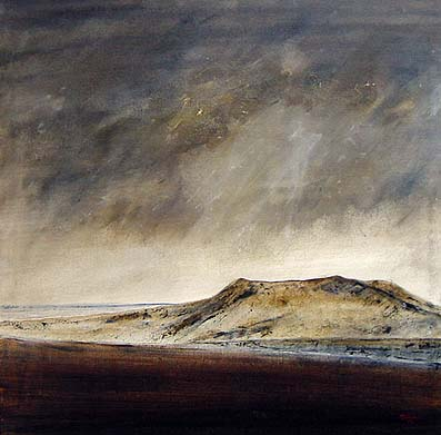 Cam Fell & Ingleborough landscape painting
