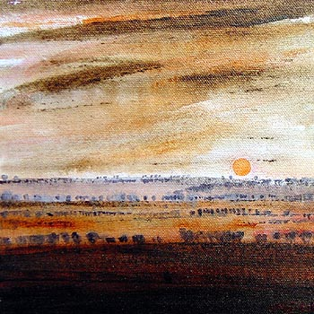 South Downs Dawn Landscape painting