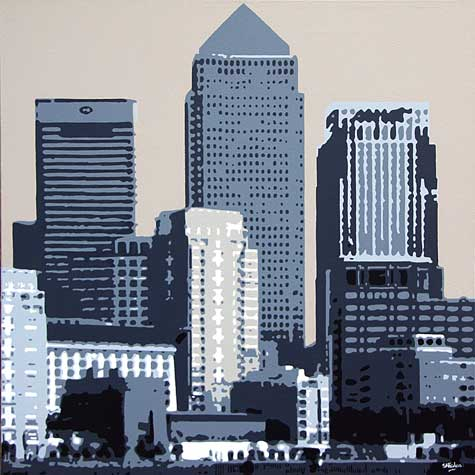 Canary Wharf London Painting