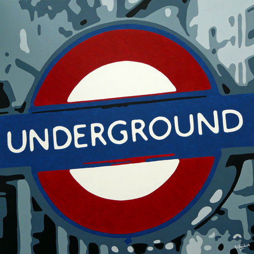 London underground painting