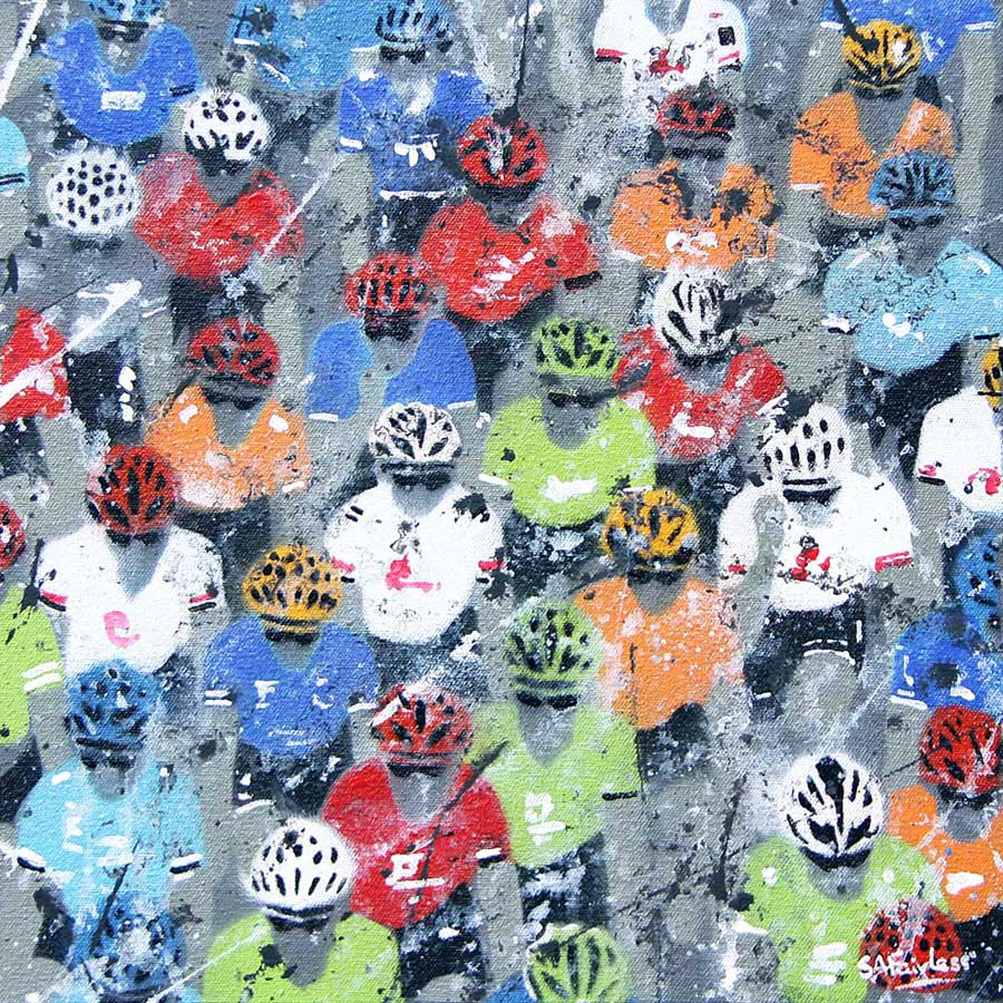 Cycling painting