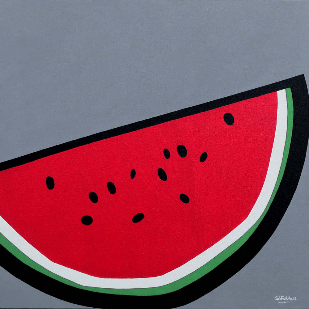 pop art watermelon fruit painting