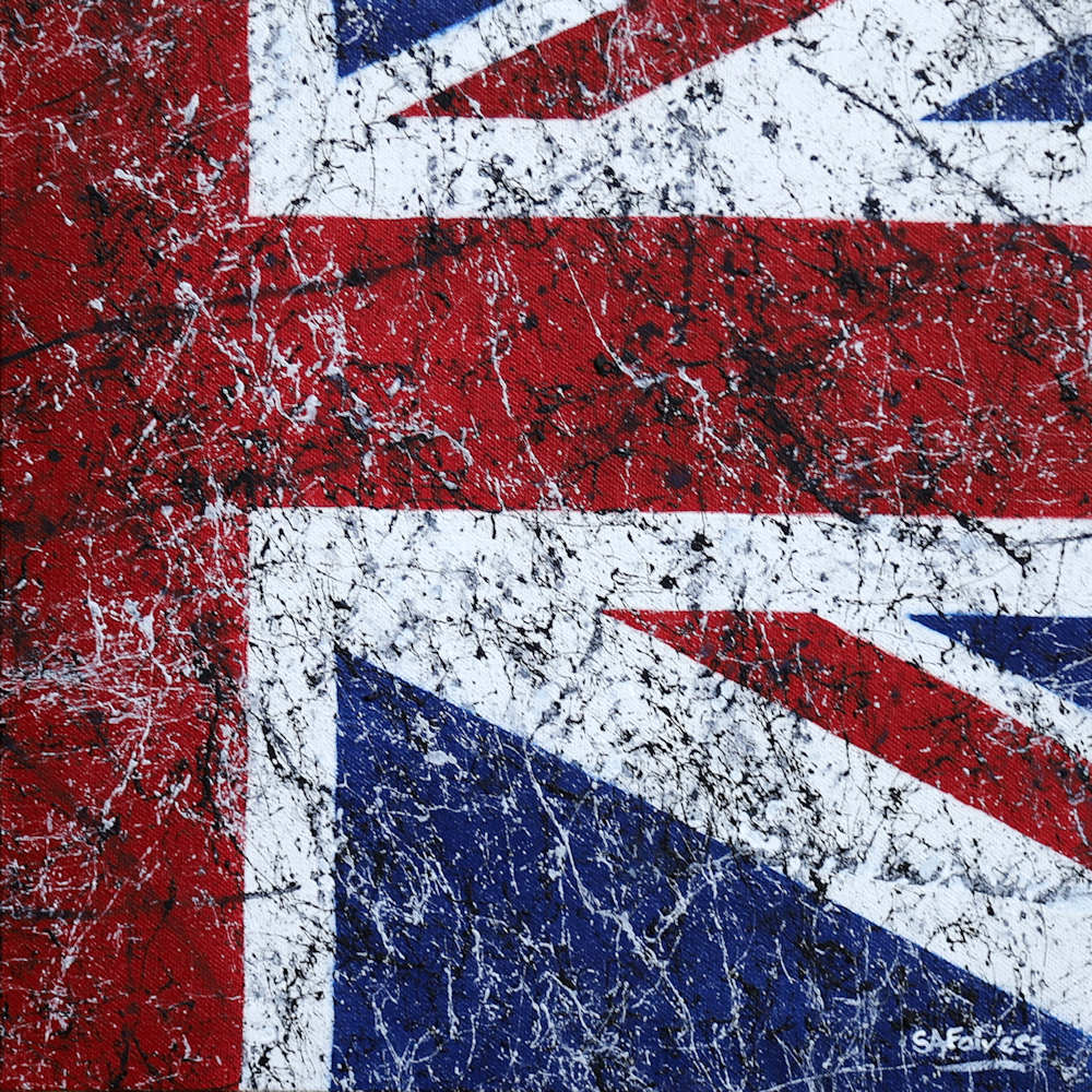 pop art Union Jack painting