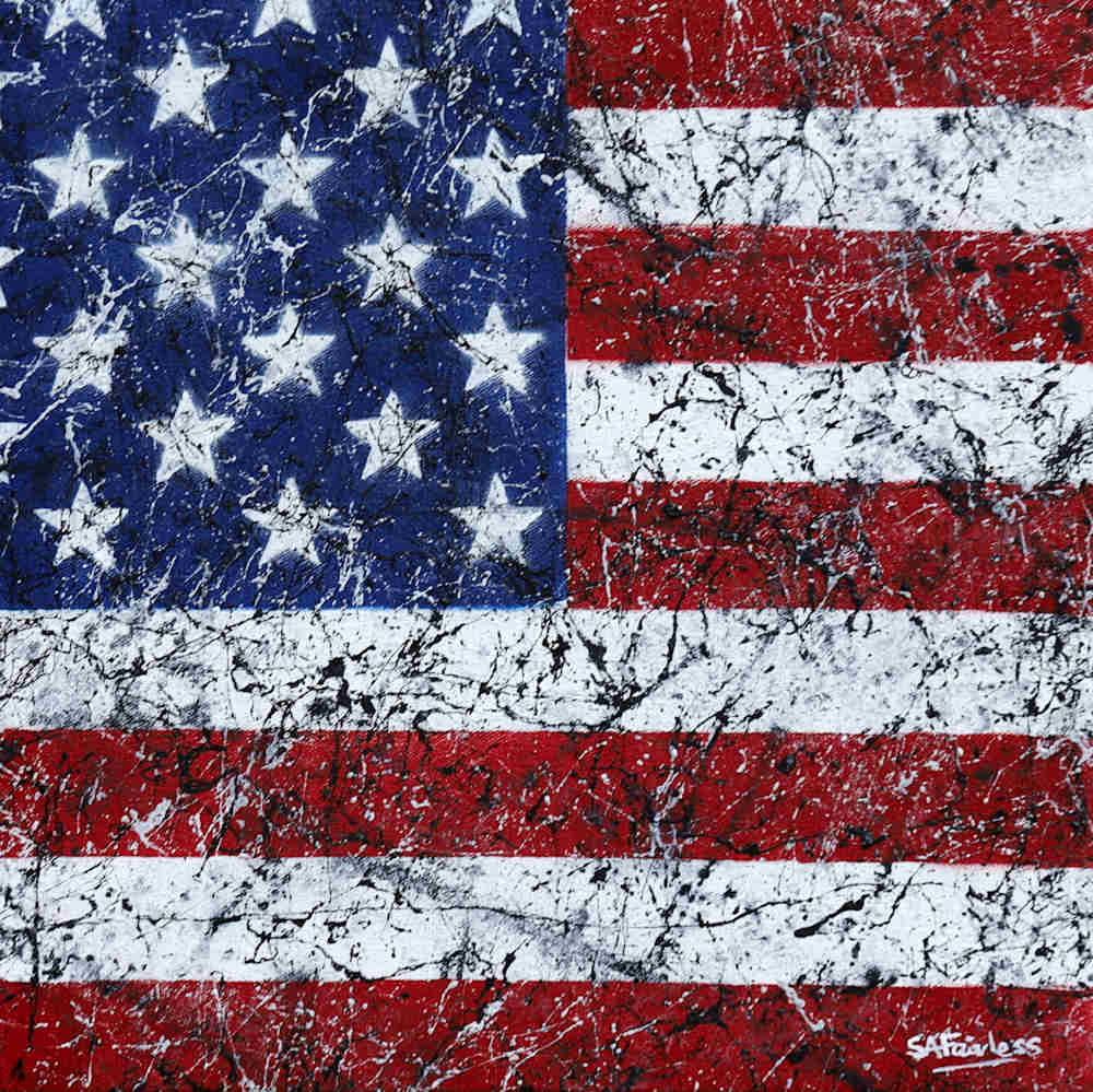 pop art USA Flag painting