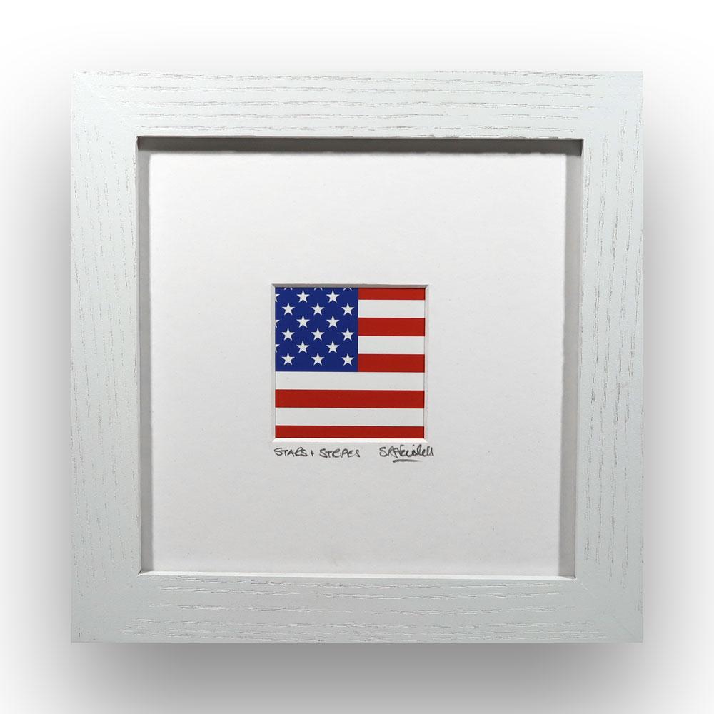 Stars & Stripes - American flag framed print