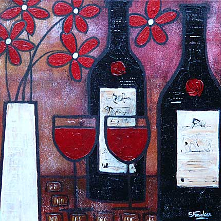 Red Wine and Red Flowers
