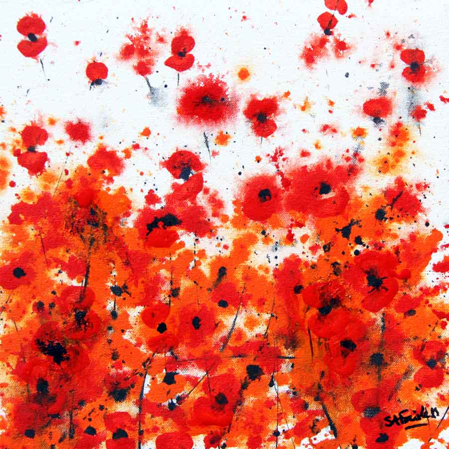 Poppy Floral painting