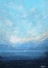 Blue seascape art